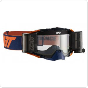Мото очки LEATT GOGGLE VELOCITY 6.5 Roll-Off - CLEAR 83% [Inked/Orange]