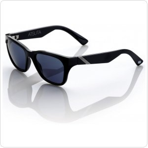 "Спортивные очки 100% ""ATSUTA"" Sunglasses Gloss Black - Grey Tint"