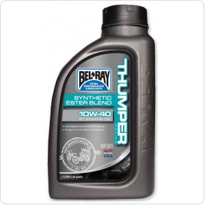 Мото масло моторное Bel Ray THUMPER RACING SYNTHETIC ESTER 4T 10W-40 1л
