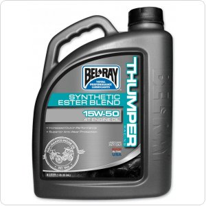 Мото масло моторное Bel Ray THUMPER RACING SYNTHETIC ESTER 4T [4л]