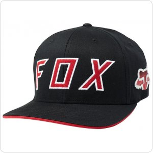Кепка FOX SCRAMBLE FLEXFIT HAT [BLACK]