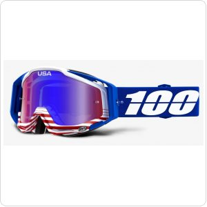 Мото очки 100% RACECRAFT Goggle Anthem - Mirror Red/Blue Lens