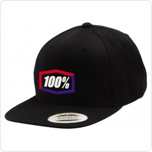 "Кепка Ride 100% ""Corpo"" Classic SnapBack Hat Black/Blue/Red"