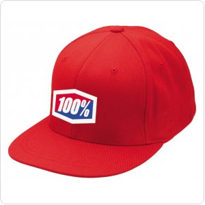 "Кепка Ride 100% ""ICON"" 210 Fitted Hat Red"