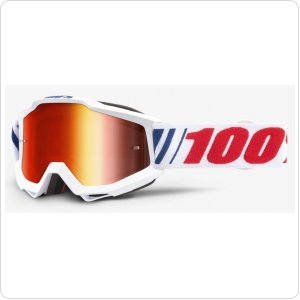 Детские мото очки 100% ACCURI Youth Goggle AF066 - Mirror Red Lens