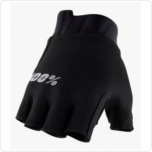 Вело перчатки Ride 100% EXCEEDA Gel Short Finger Glove [Black]