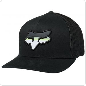 Кепка FOX HEAD STRIKE FLEXFIT HAT [BLACK]