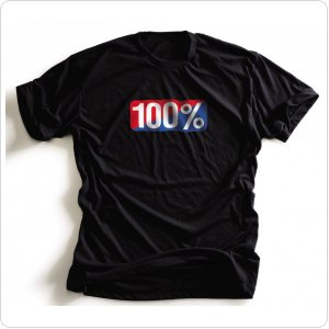 "Футболка Ride 100% ""OLD SCHOOL"" TEE-SHIRT BLACK"