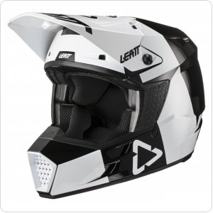 Детский мотошлем LEATT Helmet GPX 3.5 Jr V21.3 [Black White]