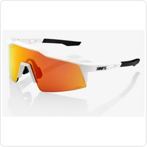 Велосипедные очки Ride 100% SpeedCraft SL - Soft Tact Off White - HiPER Red Multilayer Mirror Lens