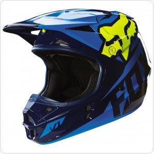 Мотошлем FOX V1 RACE HELMET ECE [Blue/Yellow]