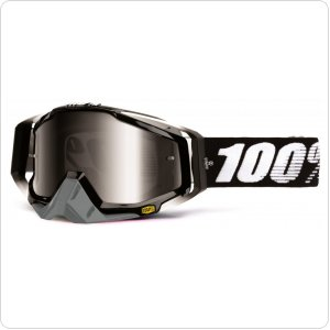 Мото очки 100% RACECRAFT Goggle Abyss Black - Mirror Silver Lens