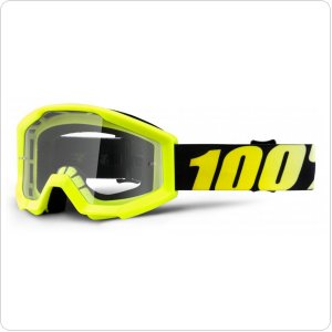 Детские мото очки 100% STRATA JR Goggle Neon Yellow - Clear Lens