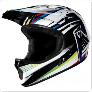 Вело шлем FOX RAMPAGE HELMET [WHITE/BLUE]