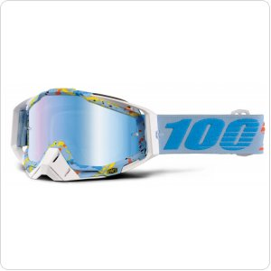 Мото очки 100% RACECRAFT Goggle Hyperloop - Mirror Blue Lens