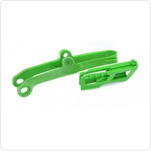 Polisport Chain guide + swingarm slider for Kawasaki [Green]