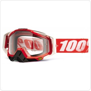 Мото очки 100% RACECRAFT Goggle Fire Red - Clear Lens