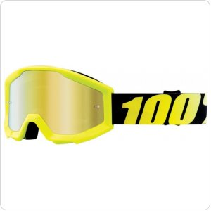 Детские мото очки 100% STRATA JR Goggle Neon Yellow - Mirror Gold Lens