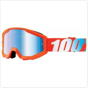 Детские мото очки 100% STRATA JR Goggle Orange - Mirror Blue Lens