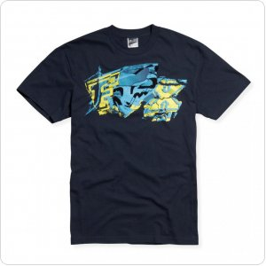 Футболка FOX Archives s/s Tee синяя