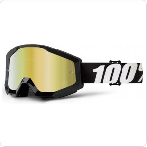 Мото очки 100% STRATA Goggle Outlaw - Mirror Gold Lens