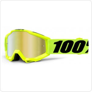 Детские мото очки 100% ACCURI Youth Goggle Fluo Yellow - Mirror Red Lens