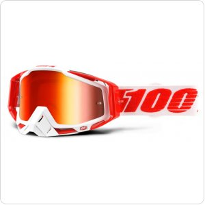 Мото очки 100% RACECRAFT Goggle Bilal - Mirror Red Lens