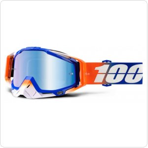 Мото очки 100% RACECRAFT Goggle Roxburry - Mirror Blue Lens