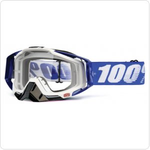 Мото очки 100% RACECRAFT Goggle Cobalt Blue - Clear Lens