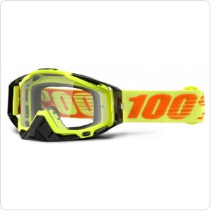 Мото очки 100% RACECRAFT Goggle Attack Yellow - Clear Lens