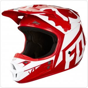 Мотошлем FOX V1 RACE HELMET, ECE [RED]