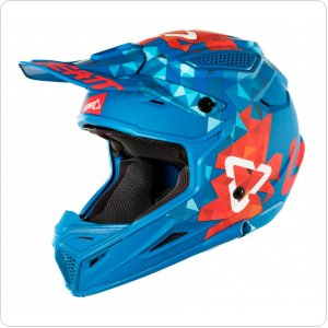 Мотошлем LEATT Helmet GPX 4.5 V22 ECE [Blue/Red]