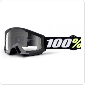 Детские мото очки 100% STRATA MINI Goggle Black - Clear Lens