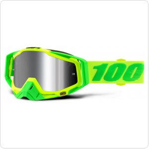 Мото очки 100% RACECRAFT PLUS (+) Goggle Sour Soul - Injected Silver Flash Mirror Lens