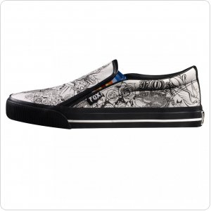 Летняя обувь FOX Riff Slip Shoe [Black/White]