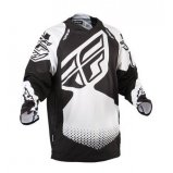 Мото джерси FLY EVO REV JERSEY [BLACK/WHITE]