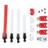 INSTINCT STRAP/BCKLE/PASS KIT [WHITE/RED]