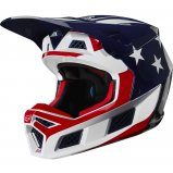 Мотошлем FOX V3 PREY HELMET [RED BLUE]