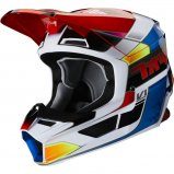 Мотошлем FOX V1 YORR HELMET [BLUE RED]