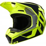 Детский мотошлем FOX YTH V1 PRIX HELMET [BLACK YELLOW]
