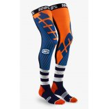 Мото носки Ride 100% REV Knee Brace Performance Moto Socks [Navy/Orange]
