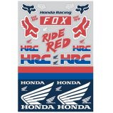 Лист наклеек FOX HONDA TRACK PACK 12