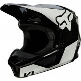 Мотошлем FOX V1 MIPS REVN HELMET [Black/White]