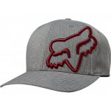 Кепка FOX CLOUDED FLEXFIT HAT [Grey Red]