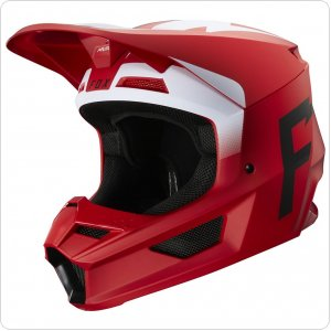 Мотошлем FOX V1 WERD HELMET [Flame Red]