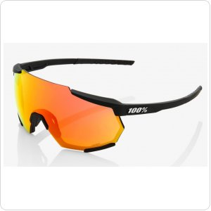 Велосипедные очки Ride 100% RACETRAP - Soft Tact Black - HiPER Red Multilayer Mirror Lens