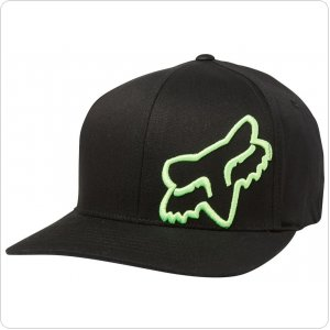 Кепка FOX FLEX 45 FLEXFIT HAT [BLK/GRN]