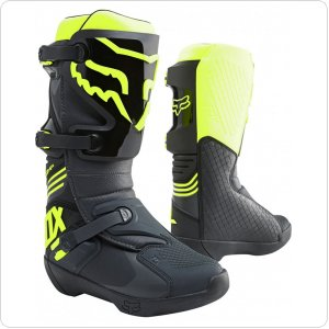 Мотоботы FOX COMP BOOT [BLACK YELLOW]